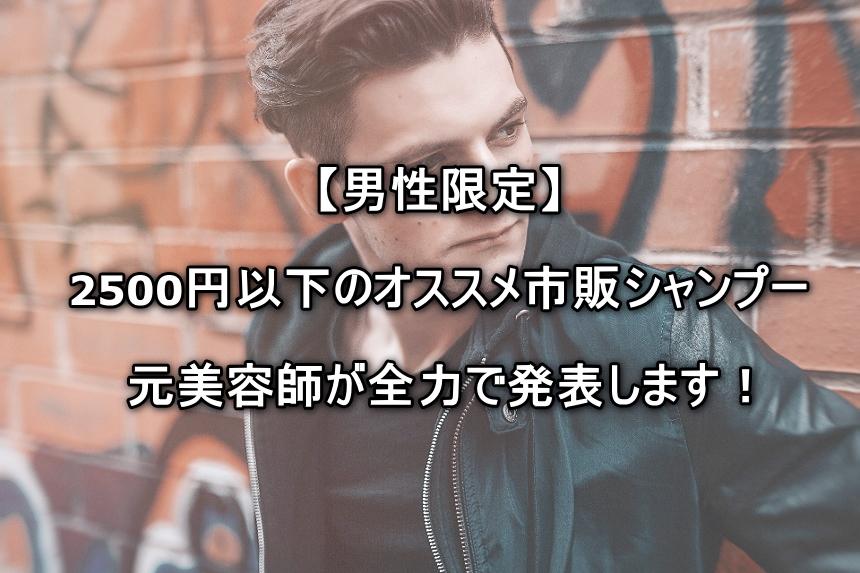 【男性限定】本当に市販のみ!元美容師がオススメシャンプー8選を発表します!